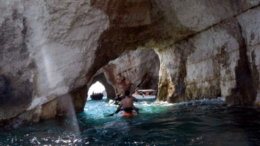 Kayak route St.Nikolaos, Volimes - Blue Caves