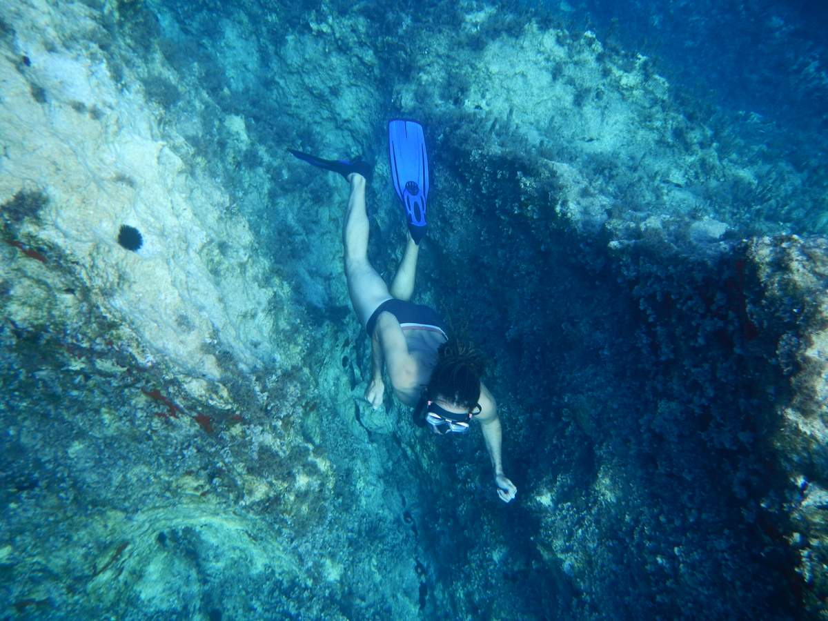 Free diving in Zakynthos