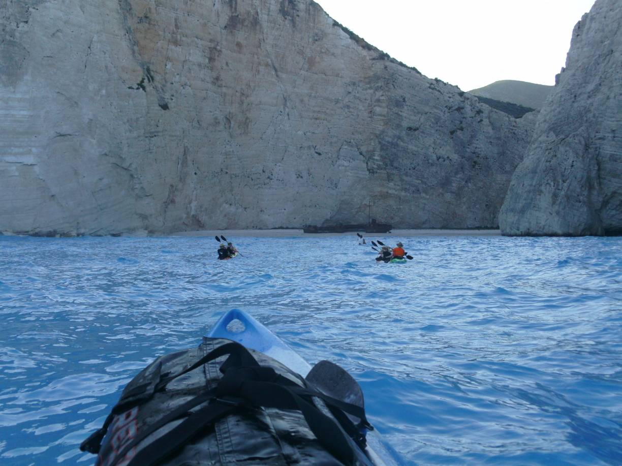 Sea kayak moments in shipwreck